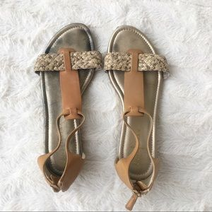 Cole Haan Snakeskin Leather Sandals